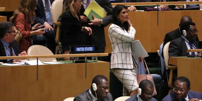 L'ambassadrice des Etats-Unis auprès des Nations unies, Nikki Haley, le 13 juin.