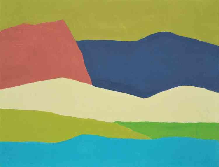 «Etel Adnan utilise des couleurs pures sorties du tube. Elle est dans l'énergie de la couleur qu'elle juxtapose par l'enchevêtrement des formes jusqu'à obtenir un équilibre parfait. C'est une œuvre très structurée et jubilatoire. Comme dans son écriture, elle est dans un rapport d'une grande efficacité des choses et des mots.»