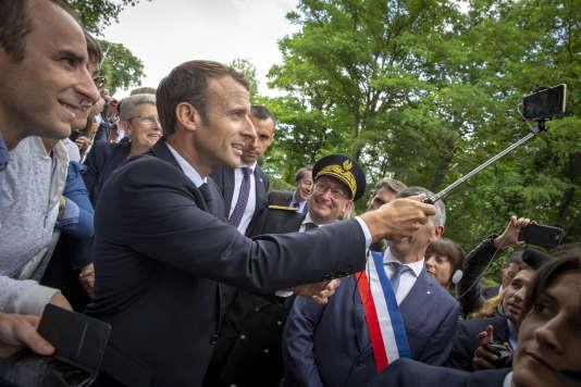Emmanuel Macron, à Mouchamps (Vendée), le 13 juin.