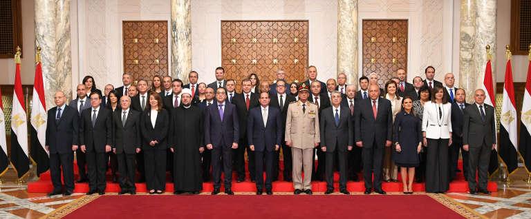 Le nouveau gouvernement Sissi, le 14 juin.