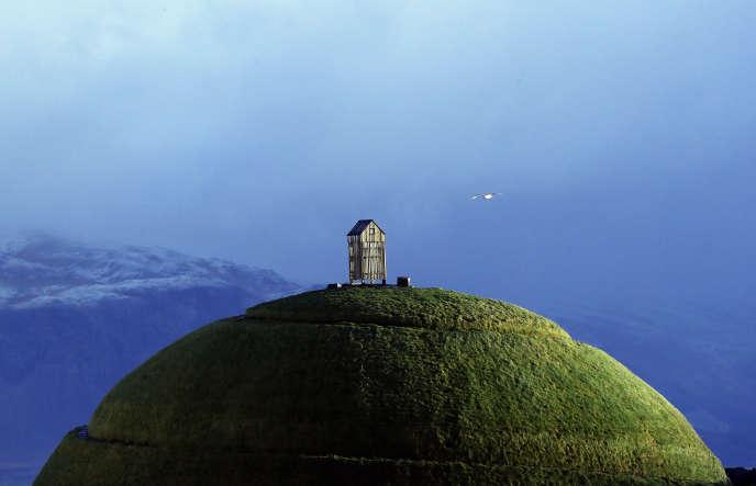 La colline Thufa à Reykjavik, le 28 octobre 2016.