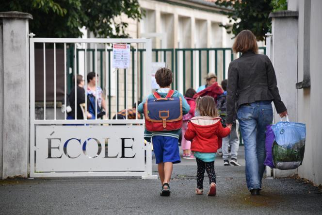 Lors de la rentrée scolaire 2017 à La Rochelle.