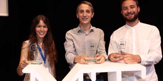 Philippe Le Bouteiller, gagnant de la cinquième édition du concours entouré de Colin Gatouillat (2e) et Camille Vautier (3e).