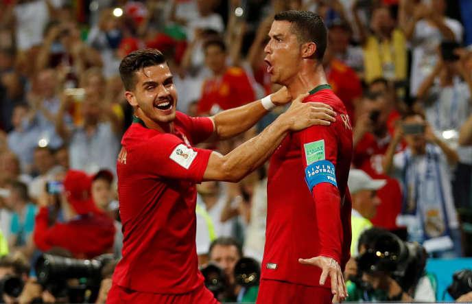 Cristiano Ronaldo a inscrit un triplé pour l'entrée en lice du Portugal, face à l'Espagne, le 15 juin 2018.