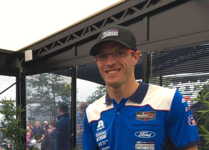 Le pilote français Sébastien Bourdais (Ford GT), jeudi14 juin au Mans (Sarthe), engagé pour les 24Heures des 16-17juin.
