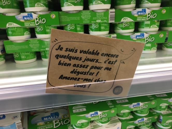 Un rayon de l'épicerie Nous.