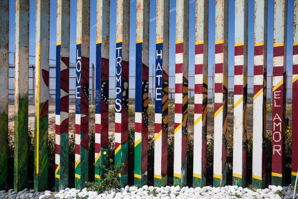 La cloture vue du côté mexicain.