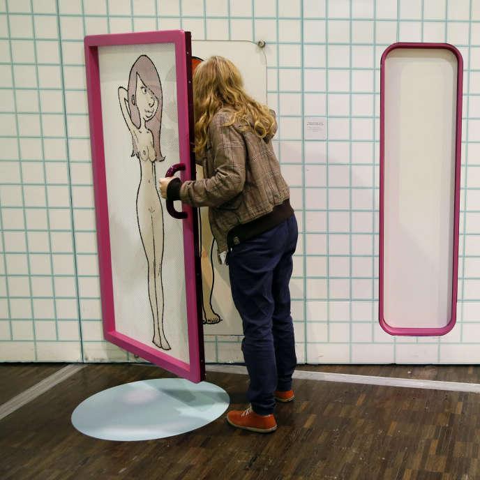 Lors d'une exposition« Zizi Sexuel» créer par le créateur« Zep» et de l'illustratrice Helene Bruller à la Cité des Sciences, le 10 octobre 2014.