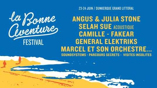 Affiche du festival La Bonne Aventure, à Dunkerque.