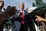 Le président américain, Donald Trump, devant la presse, à la Maison blanche, le 15 juin.