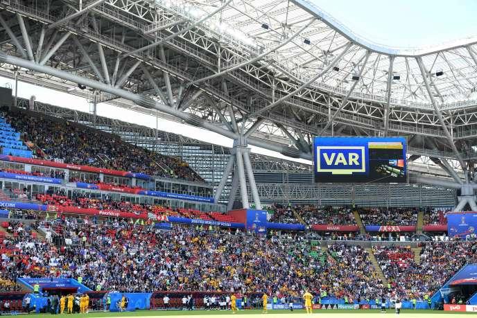 Lors de France-Australie, le 16 juin à Kazan.