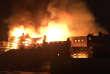 Le bâtiment de la Glasgow School of Art en proie aux flammes, le 15 juin.