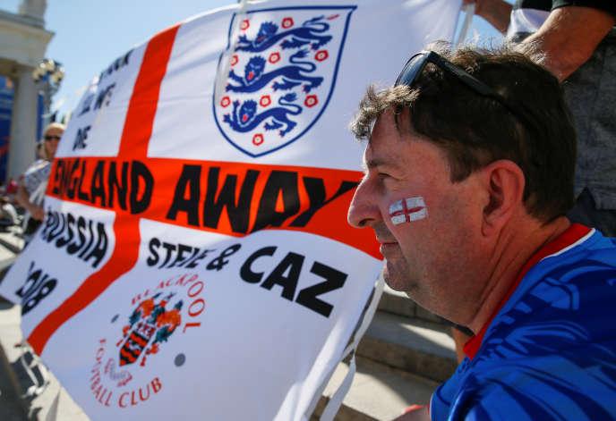 Un supporteur anglais à Volgograd, le 17 juin.