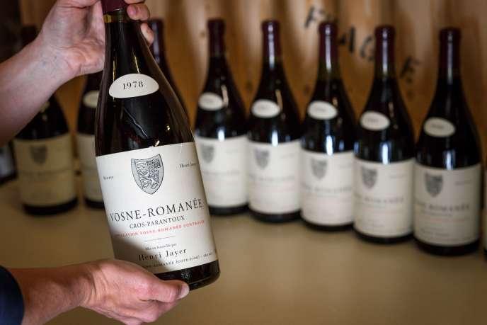 Un magnum de Vosne-Romanée Premier cru Cros-Parantoux de l'exceptionnelle collection de vin d'Henri Jayer, le 27 avril à Genève.
