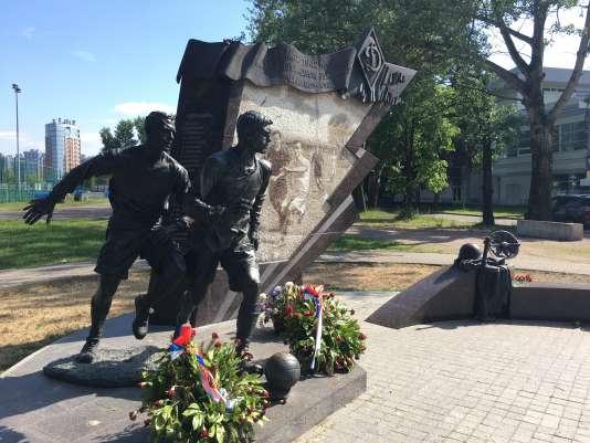 La stèle du «match du blocus», dans le stade du Dinamo.