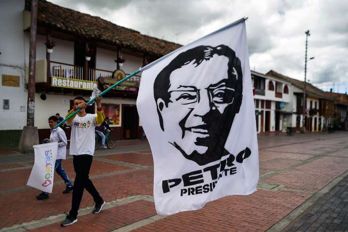 Partisants du candidat de gauche Gustavo Petro à Chiquinquira le 16 juin.