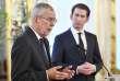 Le président autrichien, Alexander Van der Bellen (à gauche), et le chancelier, Sebastian Kurz, lors d'une conférence de presse, à Vienne, le 16 juin.