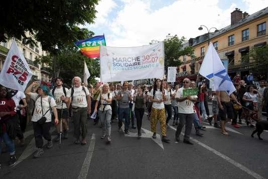 La« marche citoyenne et solidaire» arrive à Paris, le 17 juin.