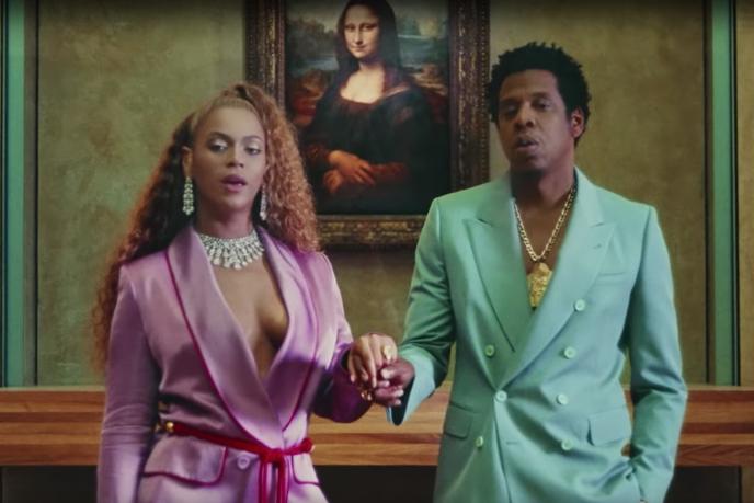 Beyoncé et Jay-Z devant la «Joconde», dans le clip de la chanson «Apeshit».