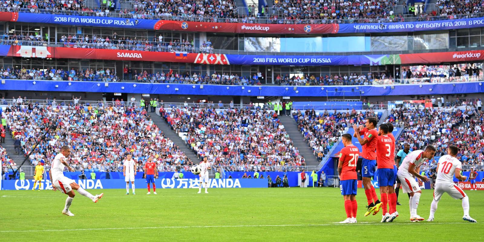 Aleksandar Kolarov a inscrit un coup franc face au Costa Rica.