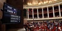 Résultat du vote de la loi sur la réforme de la SNCF à l'Assemblée nationale, le 13 juin.