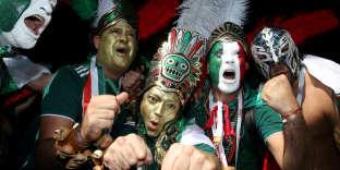 Moscou avait des airs de Mexico dimanche 17 juin avant le match Mexique-Allemagne.