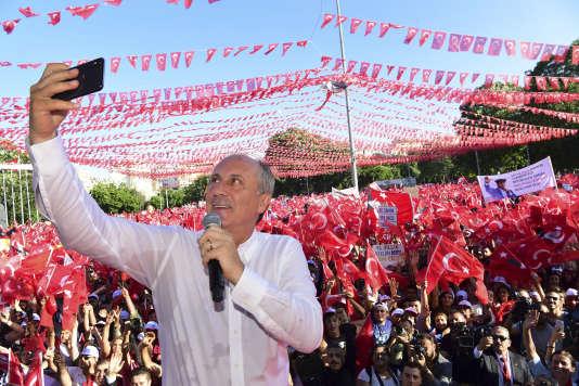 Muharrem Ince, en meeting à Gaziantep le 18 juin.