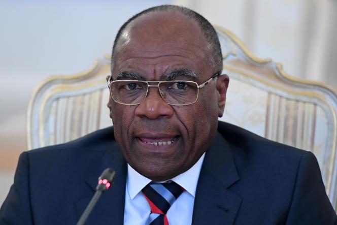Le ministre des affaires étrangères de la République démocratique du Congo Léonard She Okitundu, à Moscou, en mars 2017.