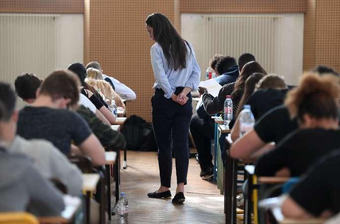 Epreuve du bac le 18 juin 2018 au lycée Pasteur de Strasbourg.