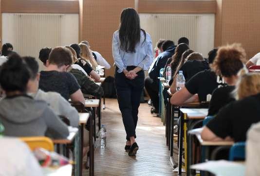Epreuve du bac 2018 au lycée Pasteur de Strasbourg.