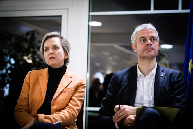 Laurent Wauquiez et Virginie Calmels, à Arcachon, en novembre 2017.