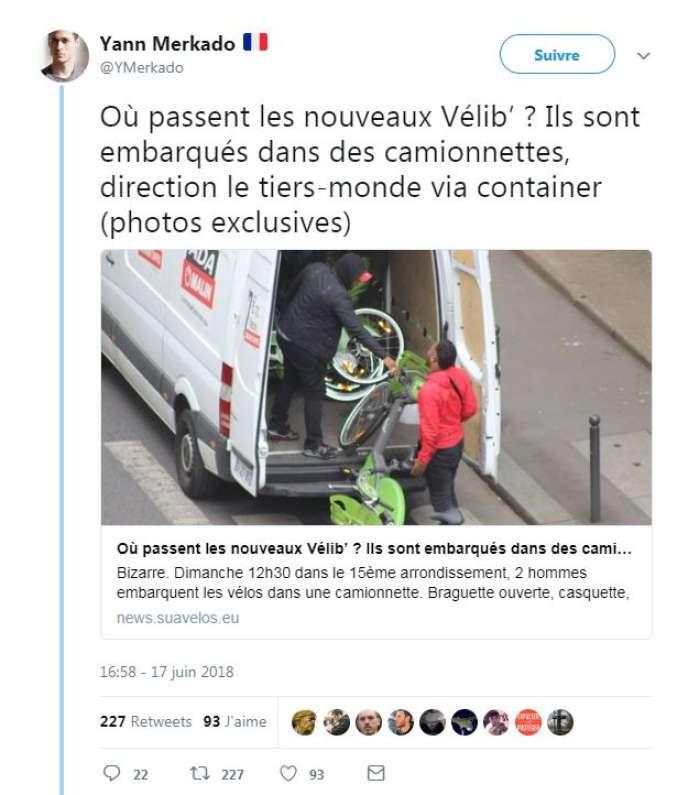 L Intox Des Velib Voles Pour Le Tiers Monde