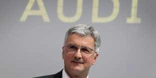 Rupert Stadler, le président du directoire d'Audi, en septembre 2017.