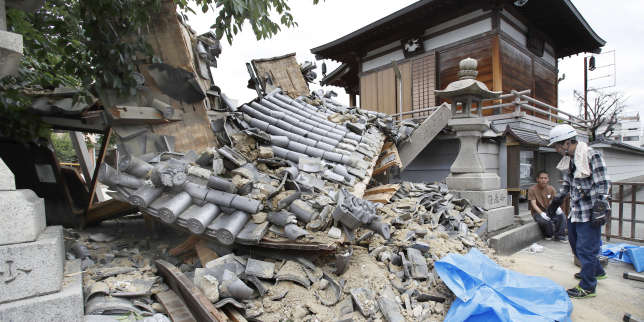 A Ibaraki, dans la région d'Osaka (Japon), après un séisme, le 18 juin 2018.