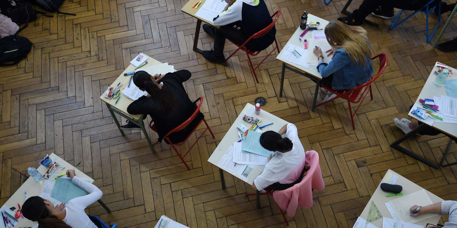 Epreuve du bac 2018 au lycée Pasteur de Strasbourg, lundi 18 juin.