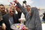 Le ministre des affaires étrangères libanais, Gebran Bassil, lors d'une visite au camp de réfugiés d'Ersal, le 13 juin.