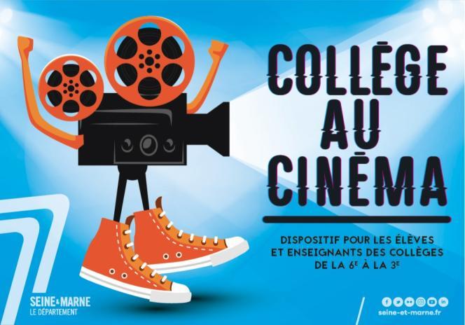 Visuel du dispositif «Collège au cinéma» (en Seine-et-Marne).