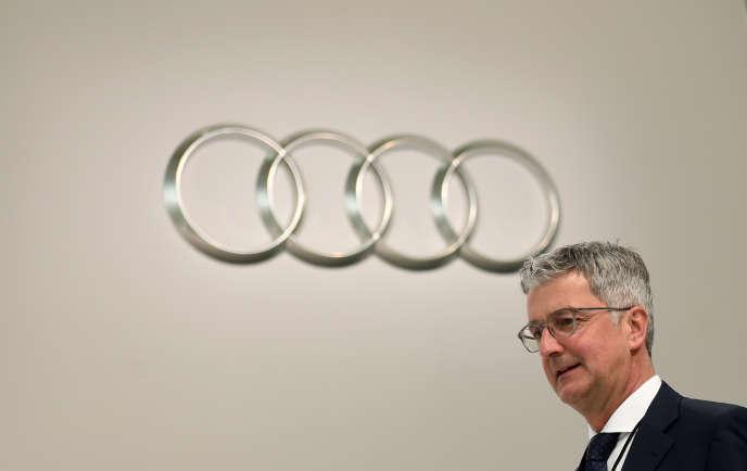 Rupert Stadler, le président du directoire d'Audi, en mai 2017.
