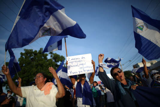 Manifestation à Managua, au Nicaragua, le 17 juin 2018.