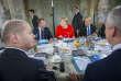 Emmanuel Macron et Angela Merkel lors du sommet franco-allemand au château de Meseberg, près de Berlin, le 19juin 2018.