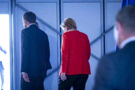La chancelière allemande, Angela Merkel, et le président français, Emmanuel Macron, à Meseberg, le 19juin.