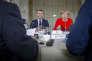 Le président français, Emmanuel Macron, et la chancelière allemande, Angela Merkel, au château de Meseberg (Allemagne), le 19 juin.