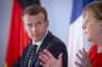 La chancelière allemande, Angela Merkel, et le président français, Emmanuel Macron, au château de Meseberg, le 19juin.