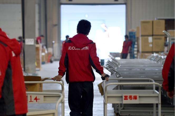 A l'entreprise JD.com, à Langfang (Hebei), fin 2015.