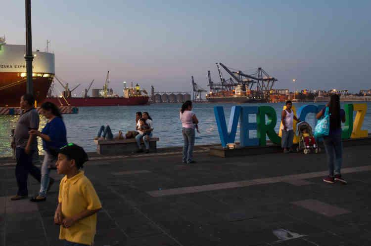 «Malicon», la promenade sur la jetée de Veracruz.