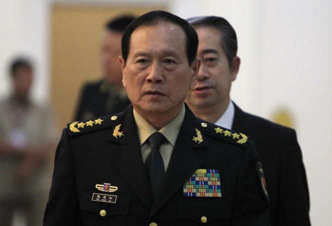 Visite du ministre de la défense chinois,, Wei Fenghe, au Cambodge, le 18 juin 2018, à Phnom Penh.