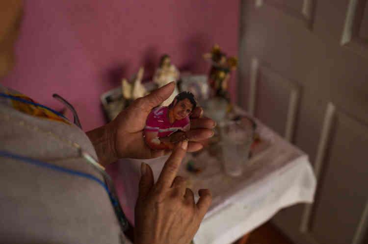 La photo du fils de de Marcela, Dorian Javier Rivera Zurita, disparu en 2012. Comme lui, plus de 34 000 Mexicains sont portés disparus aux quatre coins d'un pays submergé par la violence des cartels de la drogue, dépassé par la corruption et l'impunité, englouti par la perte d'autorité morale du gouvernement.