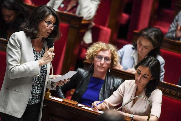 La ministre de la santé, Agnès Buzyn, lors des questions au gouvernement à l'Assemblée nationale, le 19 juin 2018.