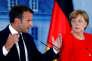 La chancelière allemande Angela Merkel et le président français Emmanuel Macron après leur rencontre au palais de Meseberg près de Berlin, le 19 juin.