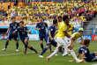 Yuya Osako a inscrit un but faceà la Colombie.